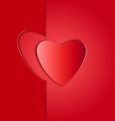 Heart paper frame copy vector image