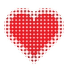 Valentine heart halftone for your design vector