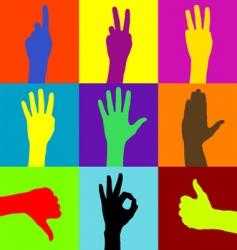 hand design vector image