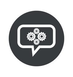 Round gears dialog icon vector