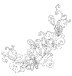 Abstract contour shape vector
