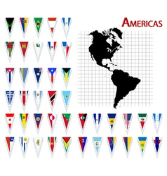 South and north america flags vector