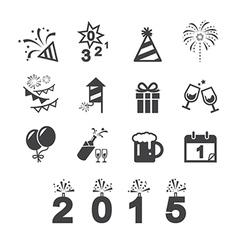 Happy new year icon vector