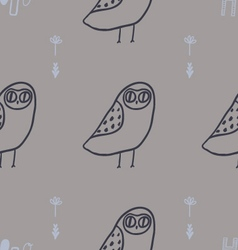 Cute owls florals and hand lettering vector