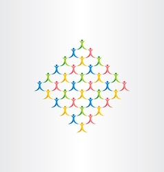 Group of people crowd icon design symbol vector