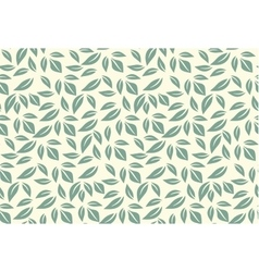 Green leaf seamless pattern vector