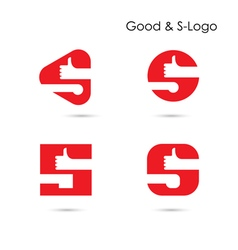 Good logo and s- letter icon abstract logo design vector
