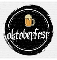 Beer festival Oktoberfest badges logos and labels vector image