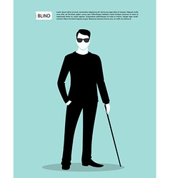 Blind man vector image vector image