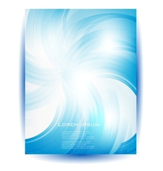 blue flower card and drop vector image vector image
