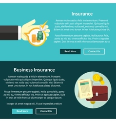 Business insurance concept vector