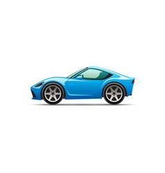 cartoon sport car vector image vector image