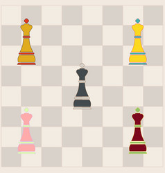 Chess king collection vector