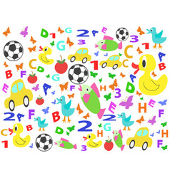 children patterns seamless background vector image