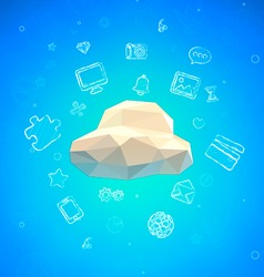 Cloud Lowpoly vector image