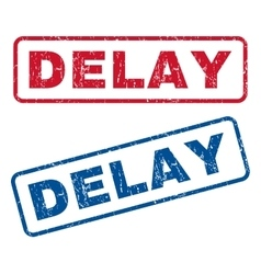 Delay rubber stamps vector