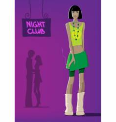 girl at club vector image vector image
