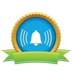 Gold alarm clock logo vector