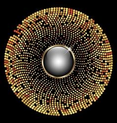 Gold circle mosaic background vector image vector image