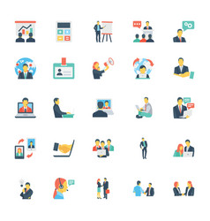 Human resources and management icons 7 vector