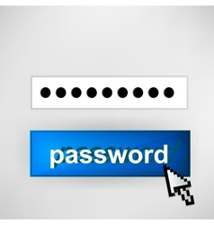 Login button - with abstract cursor vector image vector image