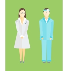 Medical Staff Man and Woman vector image vector image