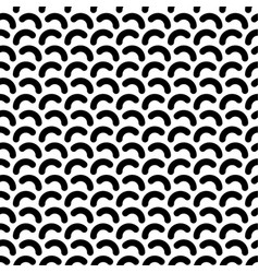 monochrome rounded lines seamless pattern vector image