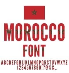 Morocco Flag Font vector image vector image