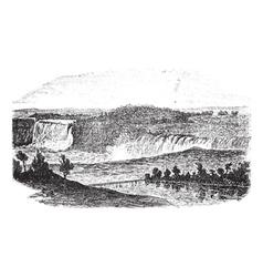 Niagara Falls Vintage Engraving vector image vector image