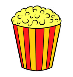 popcorn icon cartoon vector image vector image