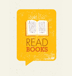 Read books motivation banner concept with book vector
