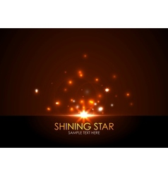 shining star vector image