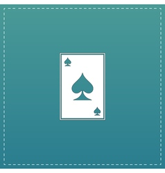 Spades card icon vector