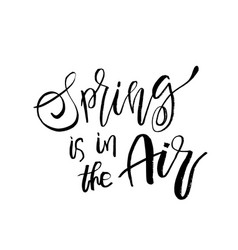 Spring is in the air - hand drawn inspiration vector