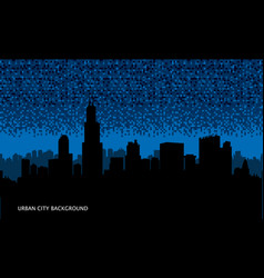 urban cityscape seamless background night city vector image vector image