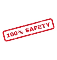 100 percent safety text rubber stamp vector