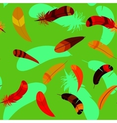 feathers in seamless cartoon pattern vector image