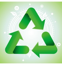 Ecology concept - recycle sign vector