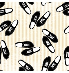 Seamless sneakers background pattern vector image