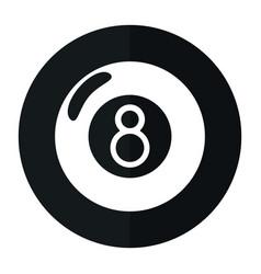 billiard ball eight shado vector image