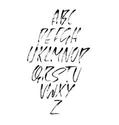 Hand drawn dry brush font modern brush lettering vector