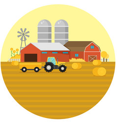 Farm flat element vector