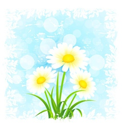 Grungy flower background vector