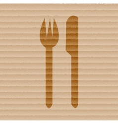 Cutlery knife fork flat modern web button and vector