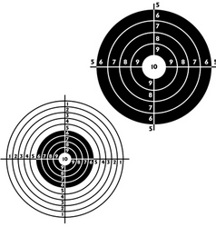 Set targets for practical pistol shooting vector