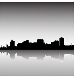 City-skyline-dusk vector