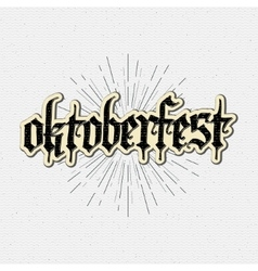 Beer festival oktoberfest badges logos and labels vector