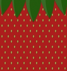 Strawberry surface pattern with leaf vector
