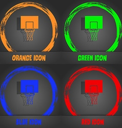 Basketball backboard icon fashionable modern style vector