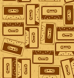 Seamless pattern of cassettes vector image